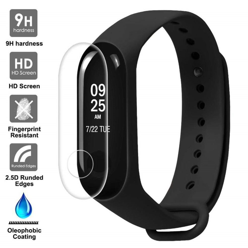 FGHGF 100Pcs Screen Protector Film For Xiaomi Mi Band 3 Smart Wristband Bracelet Full Cover Protective Films Not Tempered Glass