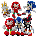 OHMETOY FS Sonic The Hedgehog Knuckles Tails Shadow Anime Figure Stuffed Plush Soft Baby Dolls Kids Toys SEGA Brinquedos