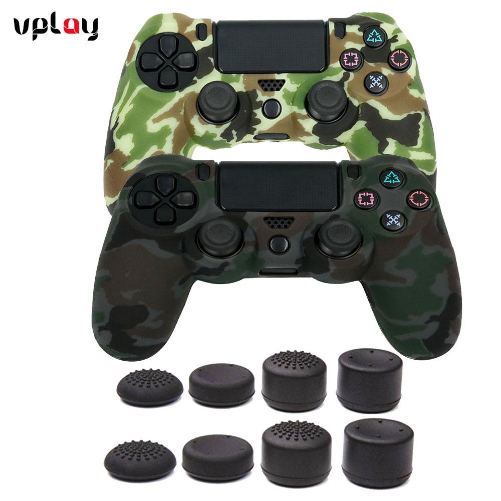 VPLAY para PS4 Controller Funda de silicona antideslizante Funda de - Juegos y accesorios