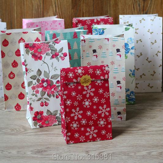 Merry Christmas kraft paper bag, Gift Bag, gift paper bag 30pcs/lot