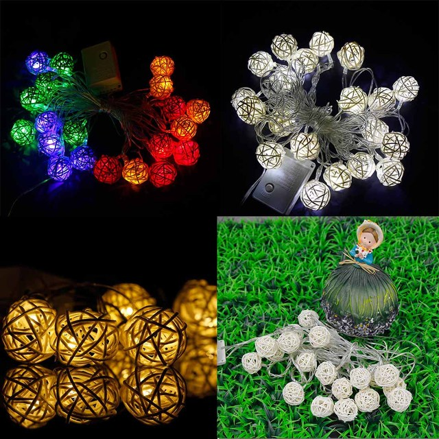 4M 10LED Party Decoration Light Takraw Battery Fairy String Lights EU Plug Party Decoration Curtain Lights
