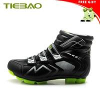 TIEBAO winter mountain bike shoes zapatillas ciclismo mtb self-locking 2019 men botas ciclismo invierno bicycle riding shoes