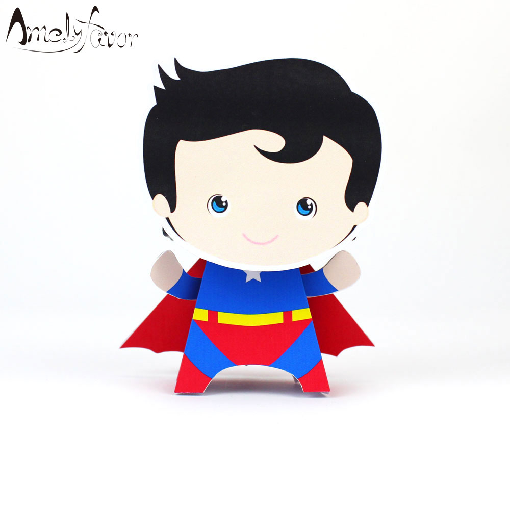 Superhero Favor Box Candy Box Boy Party Favors Gift Box Kids ...