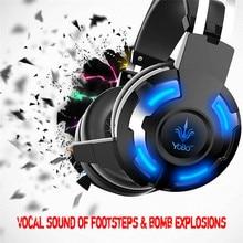 Глубокий бас наушников стерео окружении Over-Ear игровой Шум изоляции Дыхание LED гарнитуры оголовье наушников бордовый с pc игры