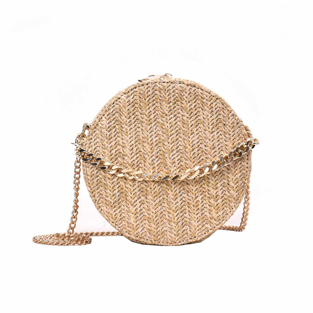 OCARDIAN Handbags Women Bag 2019 Beach Summer Rattan Fashion Tassel Weave Bag Ladies Shoulder Straw Bag Casual Circular A4