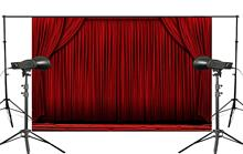 Vintage Red Stage Curtain Backdrop Photo Studio Backgrounds Booth Shoot Props Photography 5x7ft