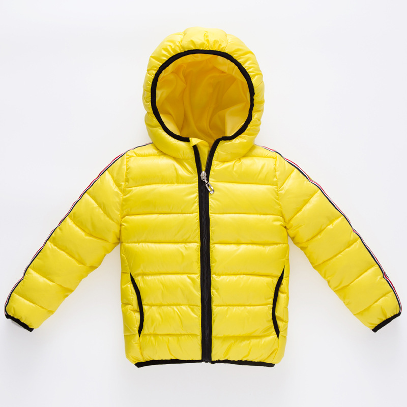 Solid Warm Feather Down Children's Winter Coats Padded Children Clothing 3-12T Fashion Boys Girl Down Hooded Zipper Outerwear girl jacket winter children outerwear warm cotton padded coats princess girl s hooded coats baby thickening down