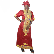 MD african clothing dresses for women fashion head wrap south africa bazin riche maxi dress print