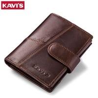 KAVIS Genuine Leather Wallet Men Coin Purse Small Male Clutch Walet Portomonee PORTFOLIO Hasp Mens Money