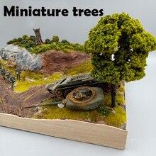 Миниатюрные деревья песок стол Пейзаж Дерево Модель растительности моделирование модели сценариев строительные блоки DIY садовые материалы игрушечных моделей