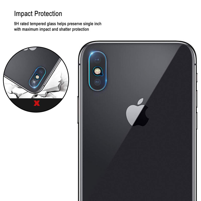 Ascromy For iPhone XS Max Rear Tempered Glass Camera Lens Protector Film Guard For iPhone XR X S 8 Plus 7 6 6S Camera Protection (7)