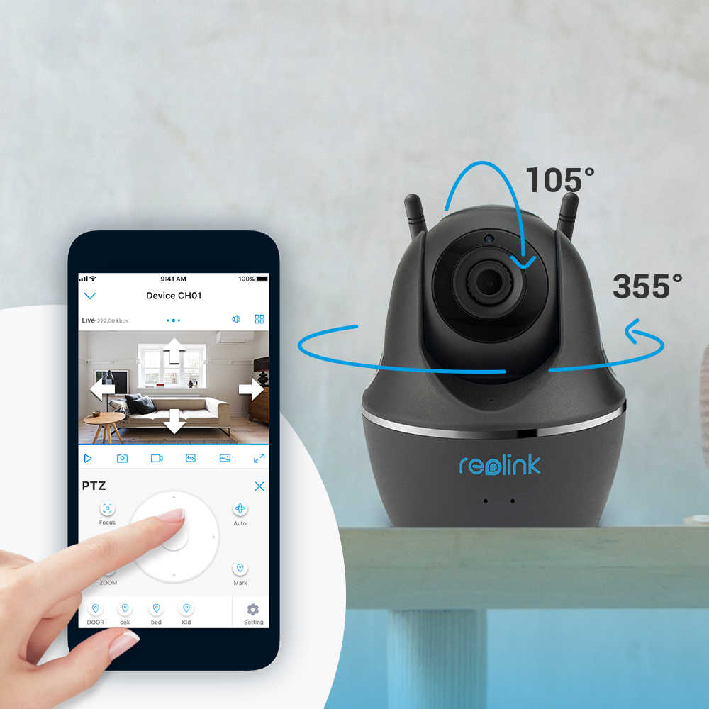 Reolink Baby Monitor WiFi Camera 2 4G/5G 4MP Full HD Pan/Tilt Video  Surveillance Indoor Home Security IP Camera C1 Pro