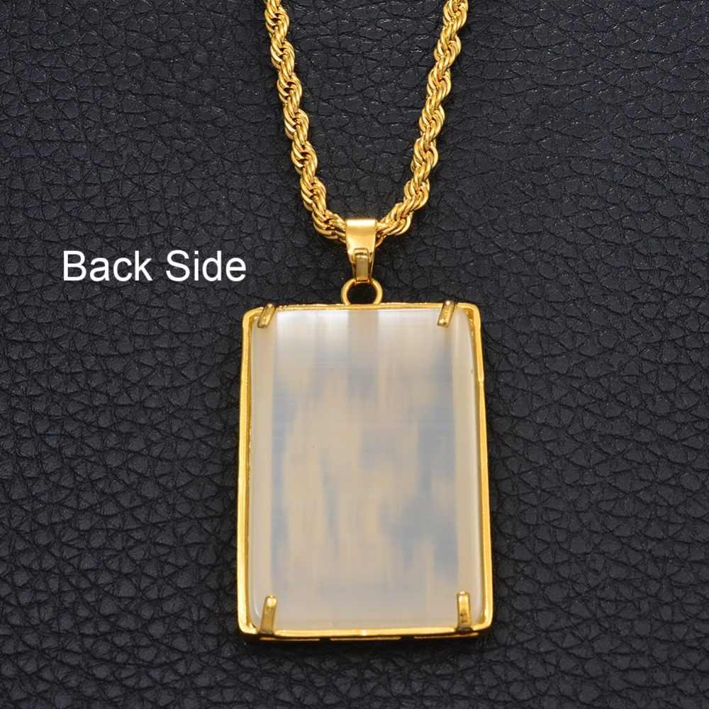 Anniyo duży wisiorek w kształcie smoka naszyjnik z kamieniem dla mężczyzn złoty kolor biżuteria maskotki ozdoby szczęście naszyjniki chiński styl #014207
