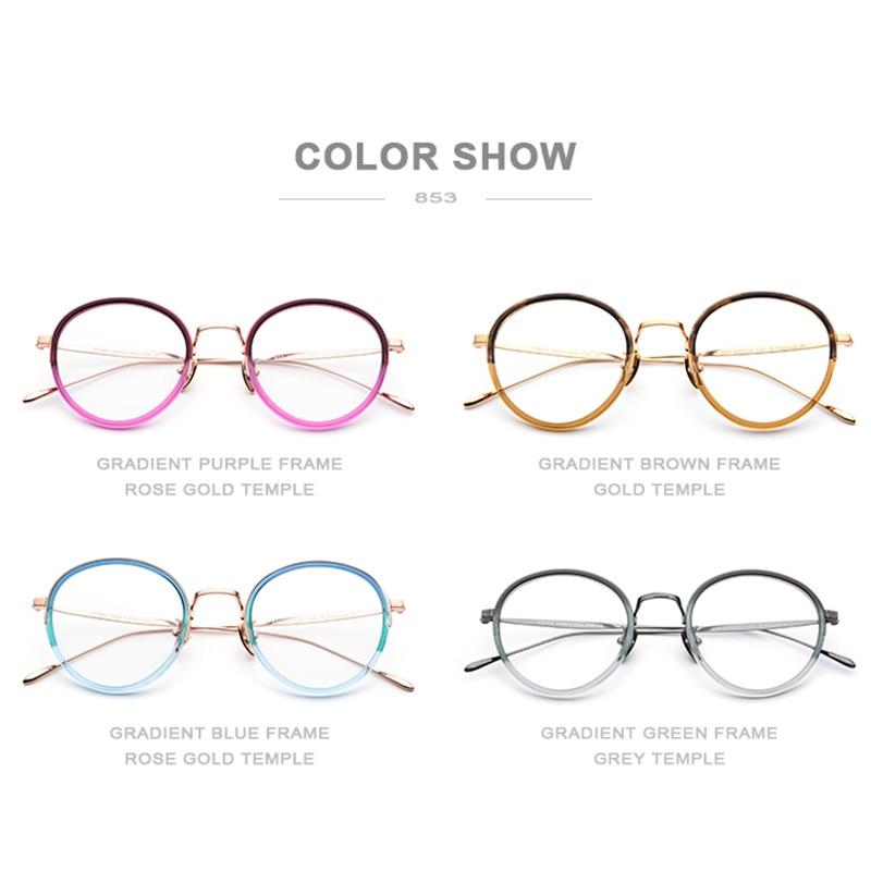 0b993671bc Montura redonda retro pequeña montura de acetato gafas ópticas montura de  lentes transparentes montura de gafas
