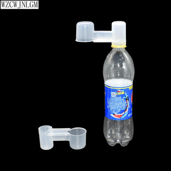 2pieces of portable plastic transparent water bottle bird feeder poultry pigeon waterer accessories
