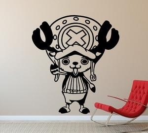 Image 1 - Vinyl Wall Decker One Piece Tony Tony Chopper, Home Decor, Boy Room Sea Fan Room Wall Sticker  HZW18