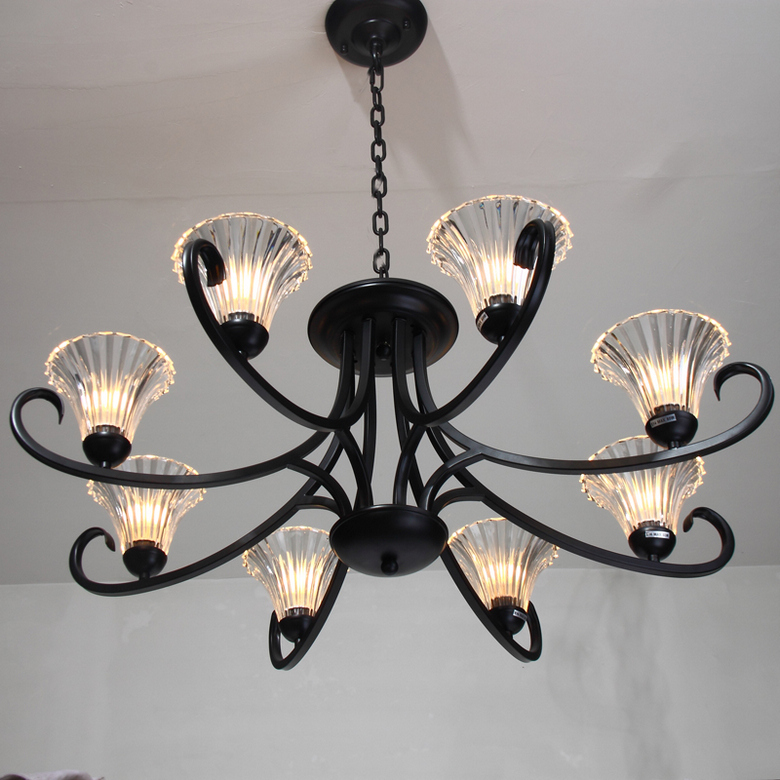 Suspension Luminaire Pendant Lights Black 8 Tieyi Living Room Fashion Brief Bedroom Lights American Style Crystal Pendant Light 2016 time limited suspension luminaire basons fashion living room pendant light modern bedroom lamp brief crystal dining lamps