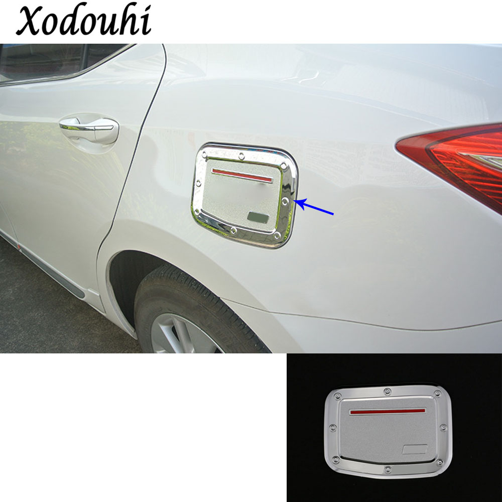 For Toyota Corolla Altis 2014 2015 2016 car body Styling Gas/Fuel/Oil tank Cover Cap stick lamp frame trim moulding hoods 1pcs for toyota corolla altis 2014 2015 2016 car body styling cover detector abs chrome trim front up grid grill grille hoods 1pcs