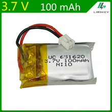 Wholesale 1S 3.7V 100mAh Lipo Battery For Cheerson CX10 CX-10 CX-10A RC Quadcopter Spare Parts 3.7 V 100 mAh Li-po Battery