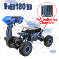 4wd carro rc rock crawlers lynrc hb180b 4x4 bigfoot motores dupla off-road do veículo bateria uso aa