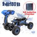 Hb180b lynrc 4wd carro rc rock crawler 4x4 bigfoot motores dupla off-road do veículo bateria uso aa de buggy carro de rali