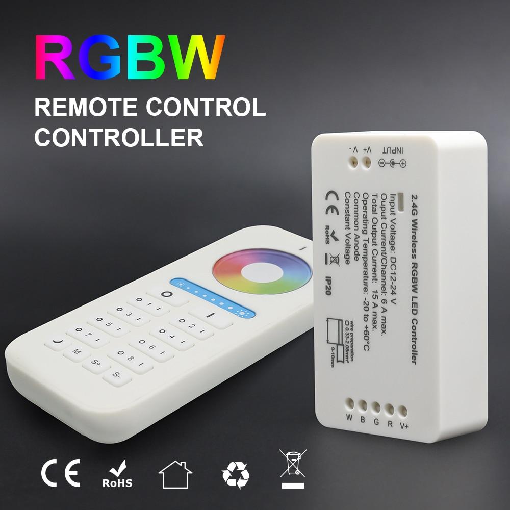 GIDEALED Wifi Controller 2.4G RF Wireless RGB RGBW DC12V-24V strip controller with 8 zone remote