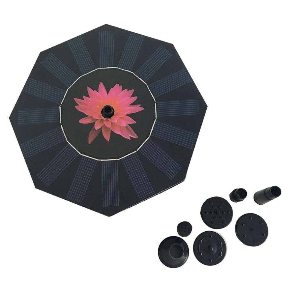 Octagonal-shaped Solar Power Fountain Water Pump Solar Floating Drifting Panel Pool Plants Watering Garden Fountain Pump стоимость
