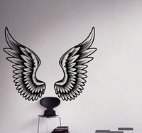 Angel Wings Wall Decal Beautiful Feathers Vinyl Sticker Home Decor Ideas Bedroom Interior Wall Art F819