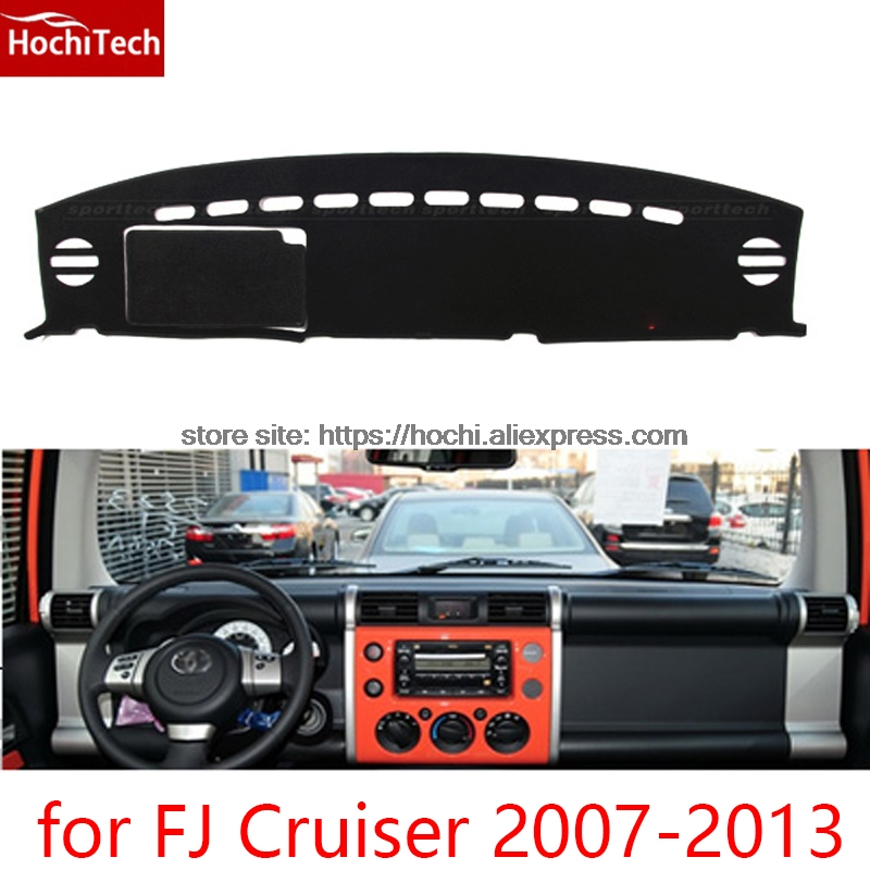 dashboard mat Protective pad Shade Cushion Photophobism Pad car styling accessories for toyota FJ Cruiser 2007 to 2013 for toyota fj cruiser 2007 13 double