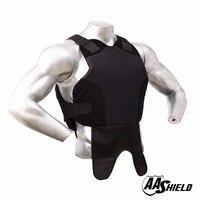 AA Shield Bullet Proof Vest Body Armor Suit Comfortable Armour Aramid Core Carrier Black M/L