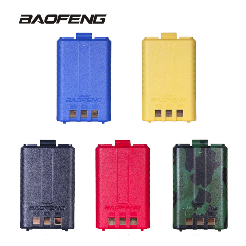 100% Original UV-5R Walkie Talkie Batteria Batteria 1800 mAh Capacità per Baofeng Two-way Radio UV-5R UV-5RE UV-5RA Accessori