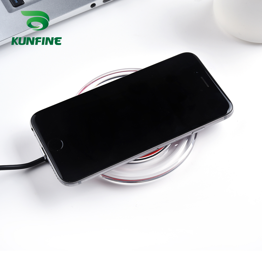 KUNFINE 10W Qi Wireless Charger for iPhone X8 Visible Fast Wireless Charging pad for Samsung S9S9 (1)