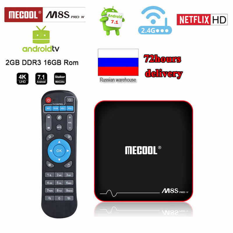 Mecool M8s Pro W TV Box Android 7.1 RAM 2GB ROM 16GB 2.4G Wifi HD IPTV 4K YouTube Netflix 1 GB 8 GB H96 Max Android Box TV X96