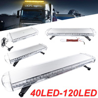 30 to 72 Led strobe flash warning light bar Car Trucks Beacons Safety emergency lights Lightbar 12V/24V Amber Yellow