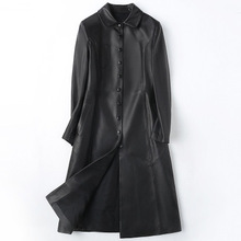 2018 New Fashion Genuine Sheep Leather Trench H25