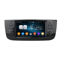 Android 9.0 Car Radio DVD Player for Fiat Punto 2009 2015 /Linea 2012 2017 GPS Navigation Bluetooth WIFI USB DVR OBD