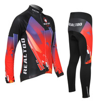 Men S Fleeced Cycling Set 2017 New Autumn And Winter Warmer Breathable Cycling Jersey Cycling Pants