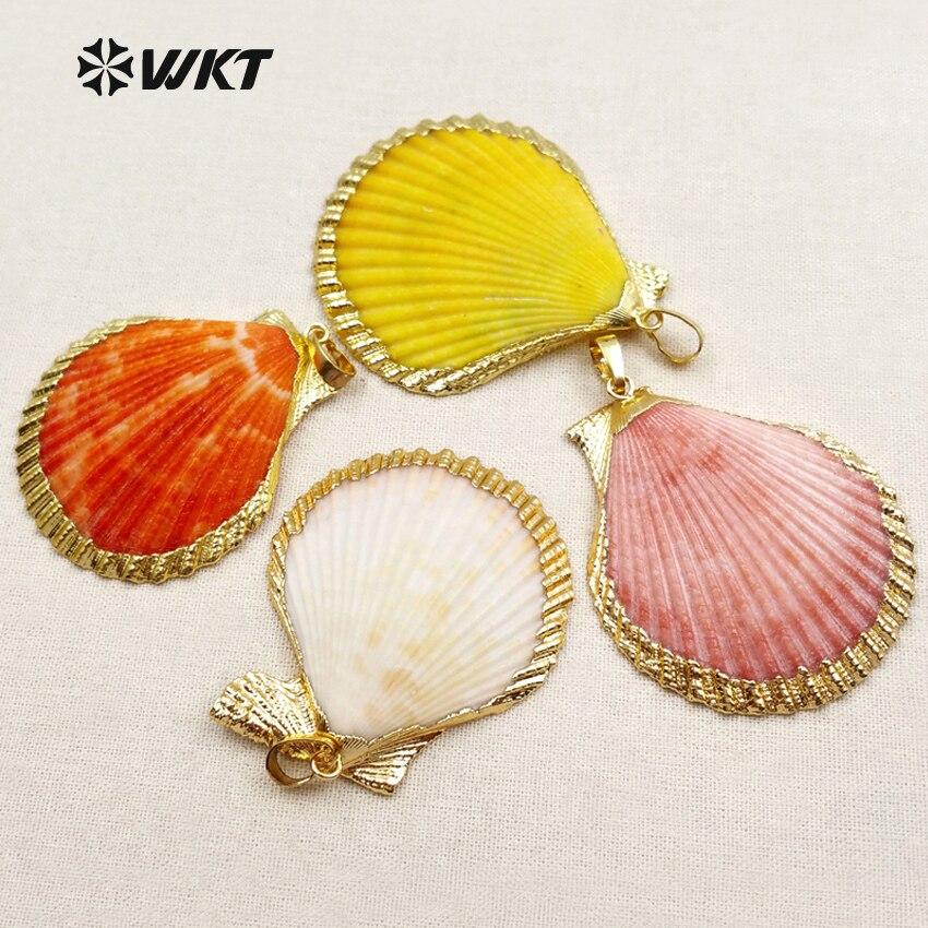 a331758c91fa4 WT-JP006 Novo!! bela concha pingentes, jóias concha, boho jóias, concha de ouro  pingentes