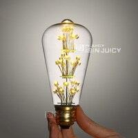 Edison RH Loft 3Watt LED ST64 Bulb 110V Or 220V For Cafe Bars Chrismas Tree Warm White Vintage Industrial Light E27 Party Lamp