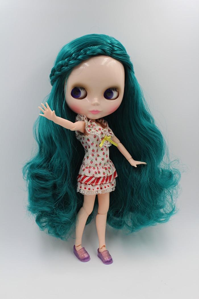 Blygirl Dolls Jade zaļš Matu locītavas Ķermeņa Blyth to aplauzums Roku var pagriezt
