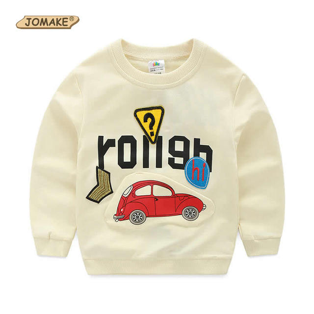 3D Cartoon Car Pattern Children T-Shirts Kids Long Sleeve Sweatshirts For Boys New Spring Kids Costumes Casual Children Clothes