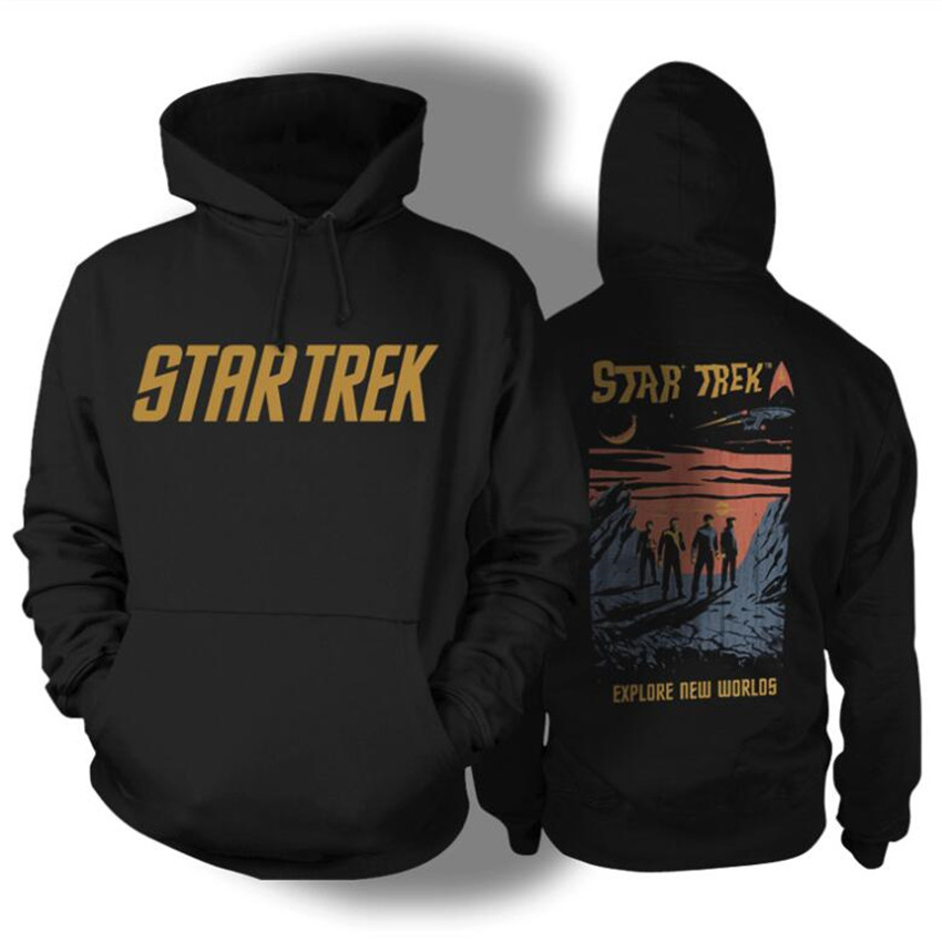 Movie Star Trek Man Cosplay Costumes Pullover Hoody Print Hoodies Sweatshirts Fashion Coat