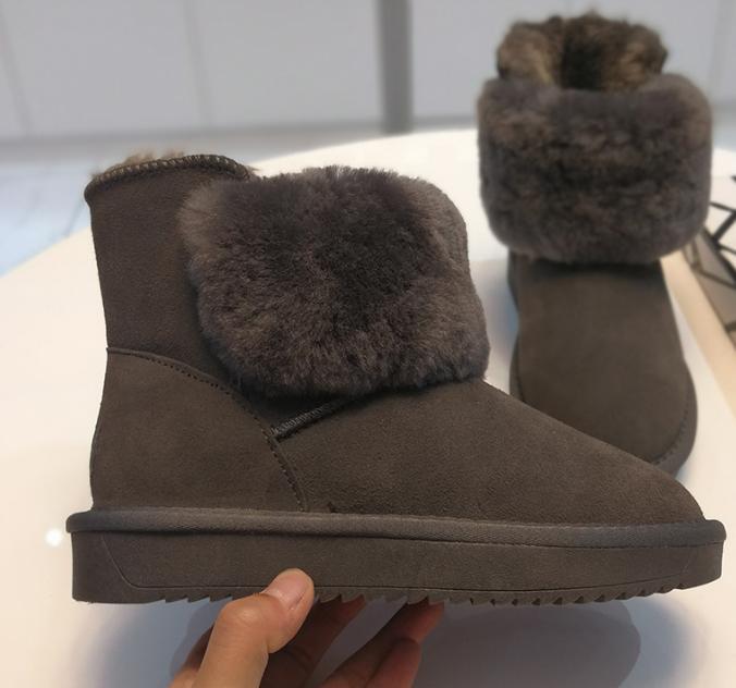 Produit Complet gris Noir Bottes Et glissement Neige Parfait Travail Non Chaud Confortable Dames Modèle Nouvelle Beau OAZpRR