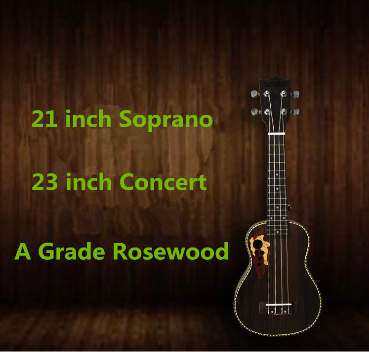 Ukulele Soprano Concert Tenor Rosewood 21 23 26 Inch Hawaiian Guitar 4 Strings Ukelele Guitarra Handcraft Wood White Musical Uke chic golden hollow rounded rectangle hasp bracelet for women