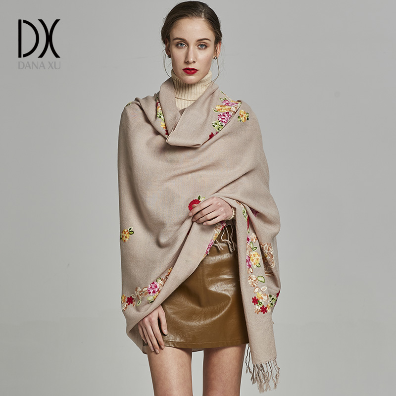 2019 Luxury Brand Winter Scarf Women High Quality Wool Scarf Large Shawls And Wraps Brand Bufandas Mujer Soft Foulard Bandana