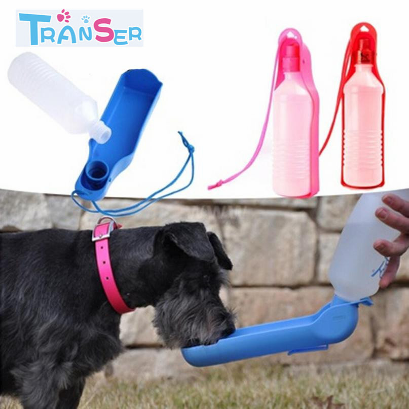 Transer Pet Dogs Cat  500ml Dog Travel Sport Water Bottle Outdoor Feed Drinking Bottle Pet Supply Portable Dropshipping 18feb9