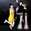 New Professional Karaoke Player Wireless Condenser Microphone with Mic Speaker KTV Singing Record for Smart Phones Computer