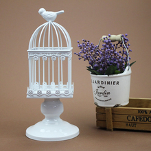 Europe New Wedding Romantic candlelight dinner birdcage Candle Holder Creative home Decoration Candlestick Iron Holders