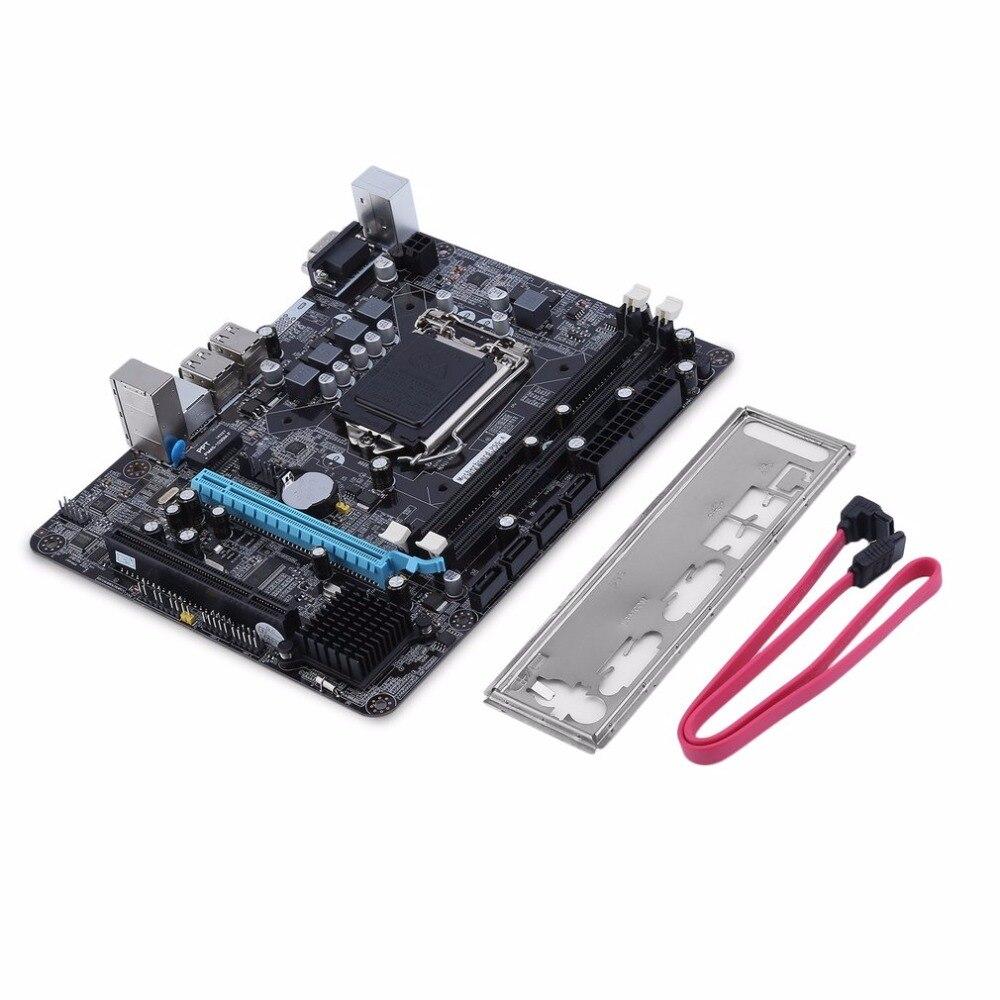LGA 1156 carte mère CPU Interface Intel P55 6 canaux PC carte mère haute Performance ordinateur de bureau carte mère LGA 1156