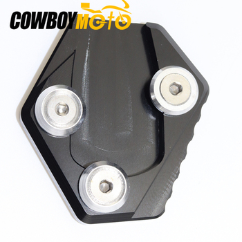 BLACK Motorcycle Side Stand Enlarge Kickstand Extension Plate Pad For Honda MSX 125 2014-2015 MSX125 MSX-125 14-15 image